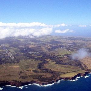 Ariel view of the Big Island